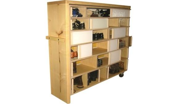 werkbau g ttingen m bel zum lagern schuhregal ahorn birke multiplex plexiglas bockrollen. Black Bedroom Furniture Sets. Home Design Ideas
